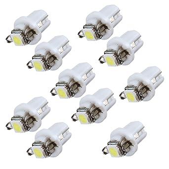 10x Ampoule Led Smd Compteur Tableau De Bord B8 5d T5 Avec Support