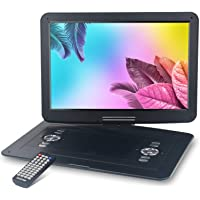 "WONNIE 17.9'' Portable DVD/CD Player with 15.4"" Large Swivel Screen, 1366x768 HD LCD TFT, Built-in 5000mAH Rechargeable Battery, Resume Play, USB/SD Card/ AV in &Out , Regions Free, Stereo Sound"