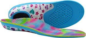Everhealth Kids Insoles with Comfort Arch Support, Shoe Inserts Orthotics for Flat Feet Pronation Corrector, Active Children's Orthopedic Inner Soles for Shock Absorbing