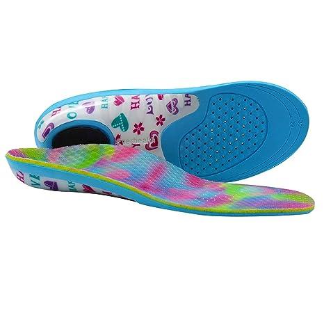 Solette per bambini con supporto per arco comfort, inserti per scarpe ortesi per correttore di pronazione dei piedi piatti, suole interne ortopediche