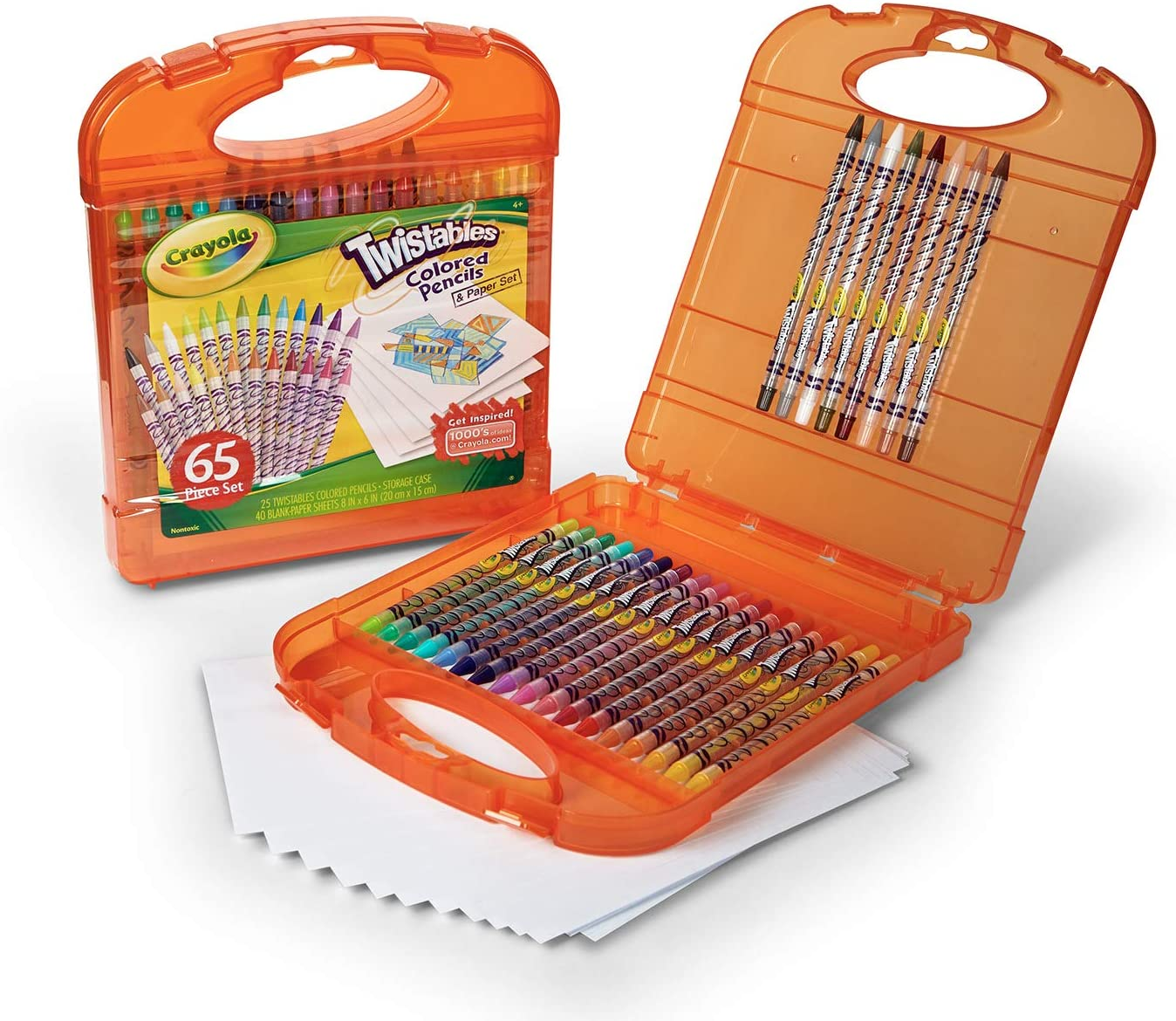 Crayola Twistables Colored Pencils Kit, 25 Twistables Colored Pencils and 40 sheets of paper: Toys & Games