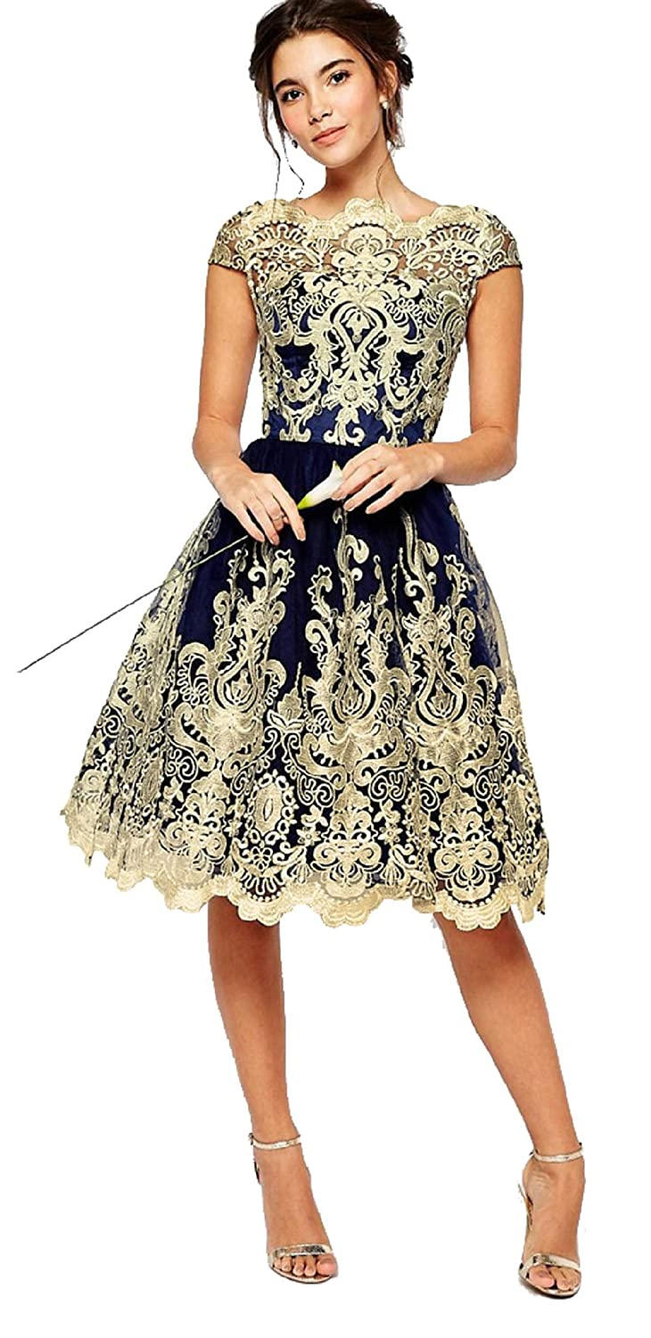 Womens Cocktail Dress Wedding Guest Lace