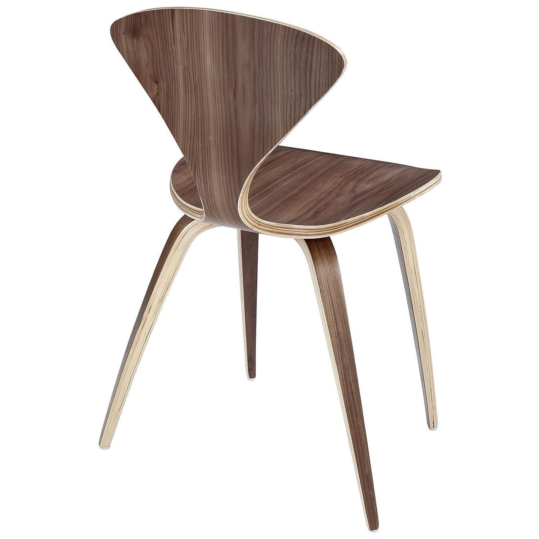 Amazon Modway Vortex Dining Side Chair Dark Walnut Chairs