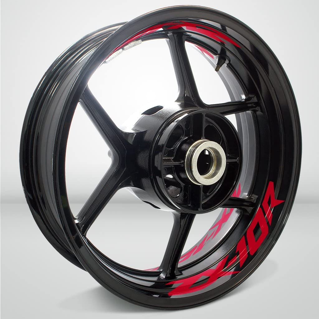 2 Tone Cranberry Motorcycle Inner Rim Tape Sticker Decal for Kawasaki ZX10R