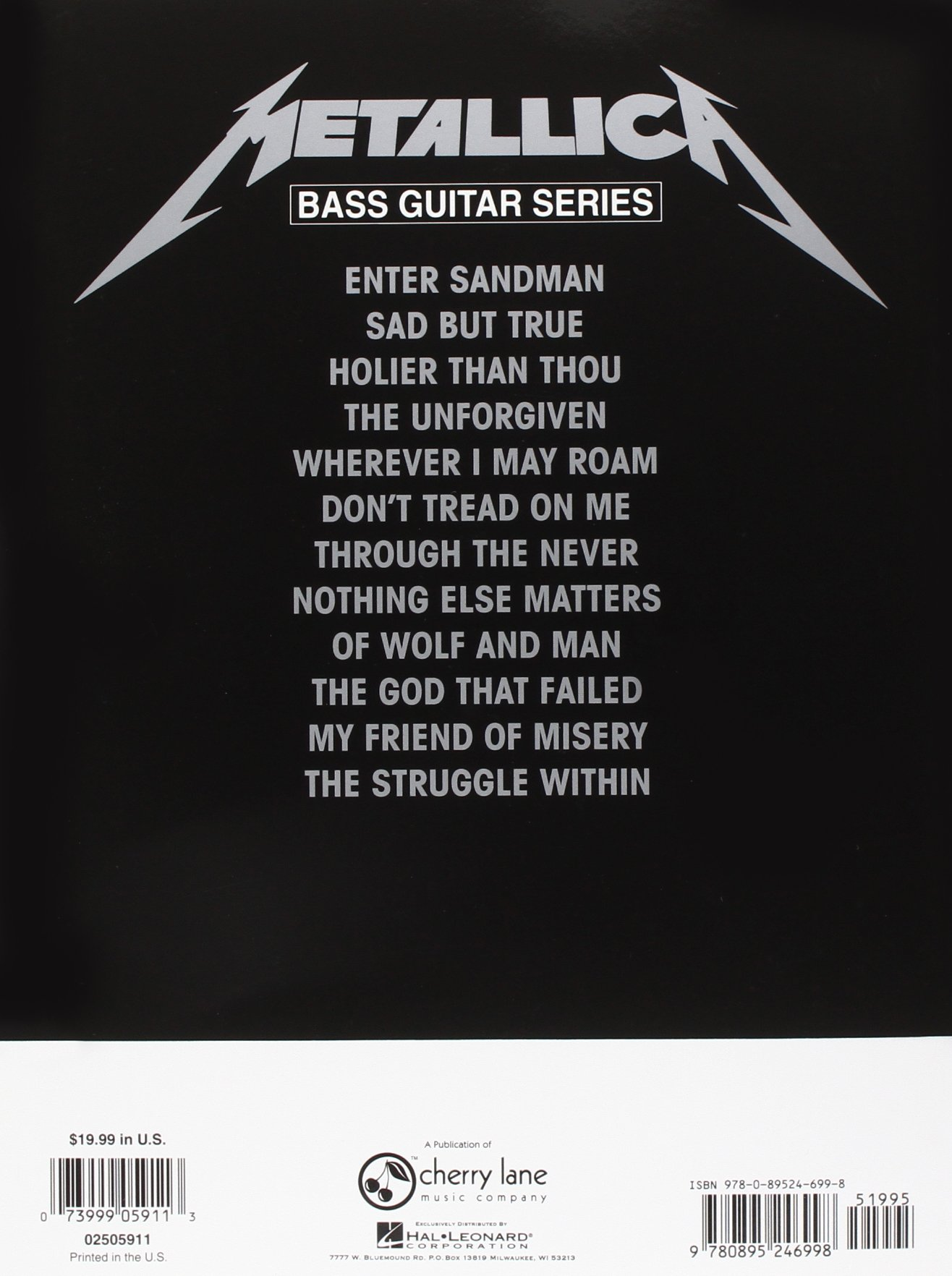 Play It Like It Is Bass: Metallica - The Black Album: Bass Guitar ...
