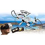 Jamara Angle 120 Altitude HD Wifi VR, inkl. VR-Brille, Altitude Hold Adjustment, Kompass/Flyback, Track Following - Flugbahn-Planung-Modus,120° Weitwinkel-Kamera,Unterspannungswarnung,40 KM/h