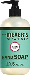 product image for Mrs. Meyer's Clean Day Liquid Hand Soap, Cruelty Free and Biodegradable Formula, Basil Scent, 12.5 oz