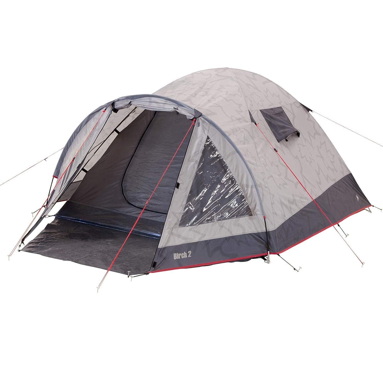 Zelt mit Glasfaserstangen für 2 Personen 280x155 cm incl. Tragetasche • Camping Tunnelzelt Gruppenzelt Mannzelt Outdoor