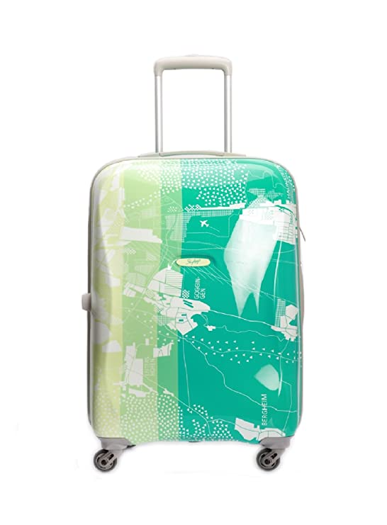 a6133dc0d9bb Skybags. Polycarbonate 80 Cm Green Hard Sided Suitcases   Trolley Bag   Amazon.in  Bags