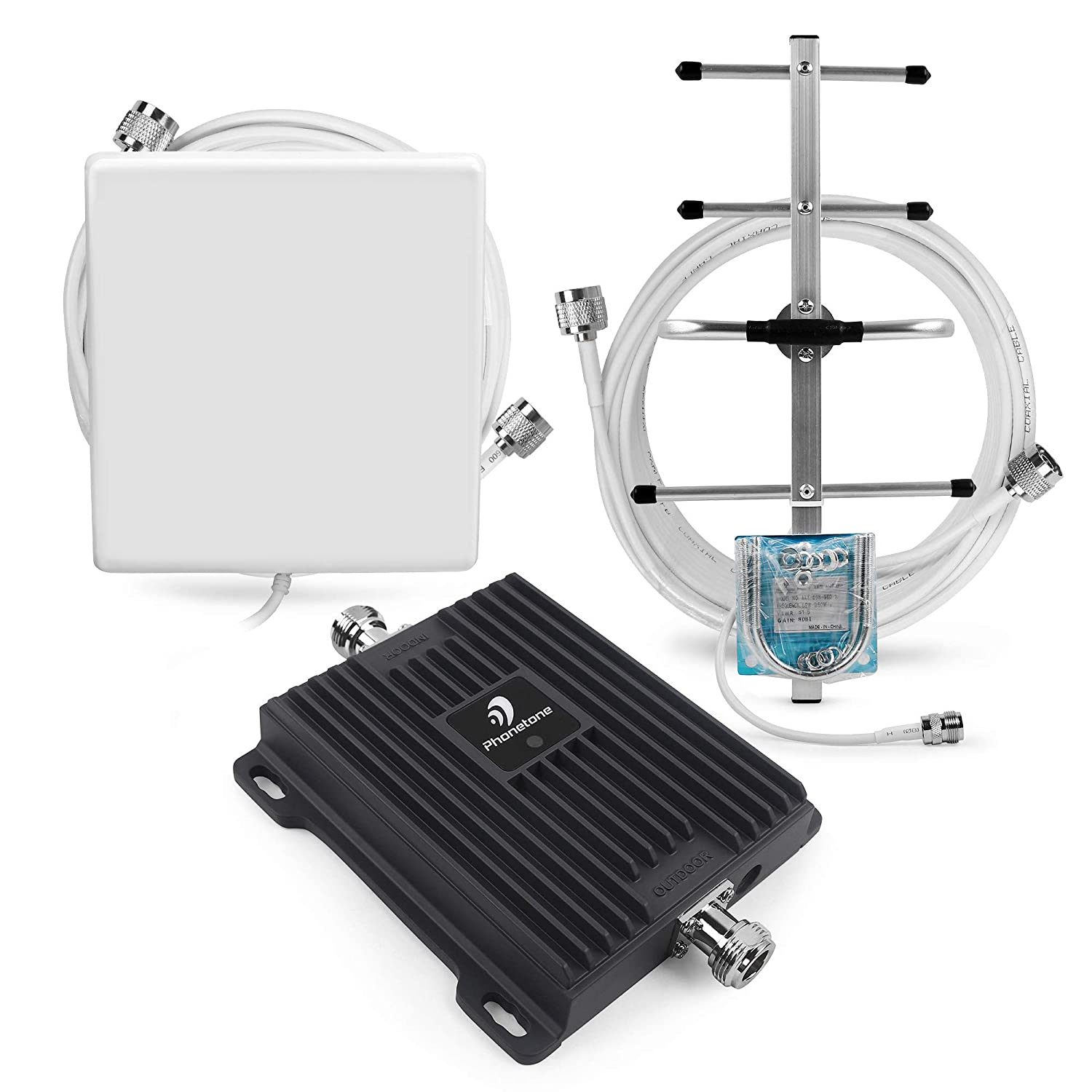 Cell Phone Signal Booster for Canada - 4G LTE 700MHz Band 12/17 Home Repeater Amplifier with Directional Yagi Antenna - Suitable for Fido, Rogers, Telus and Videotron Phonetone Ltd.