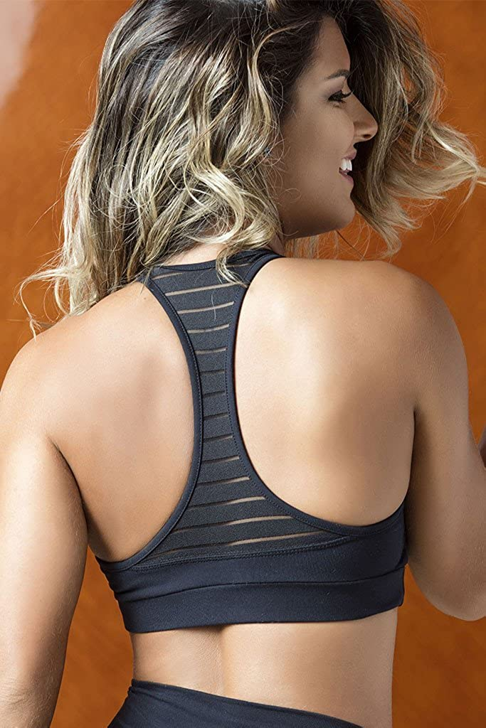 7a4624e0b5 OXYFIT Meshed Cleavage Pilates Sports Bra at Amazon Women s Clothing store