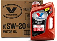 Valvoline  High Mileage with MaxLife  Technology SAE 5W-20 Synthetic Blend Motor Oil 5 QT, Case of 3
