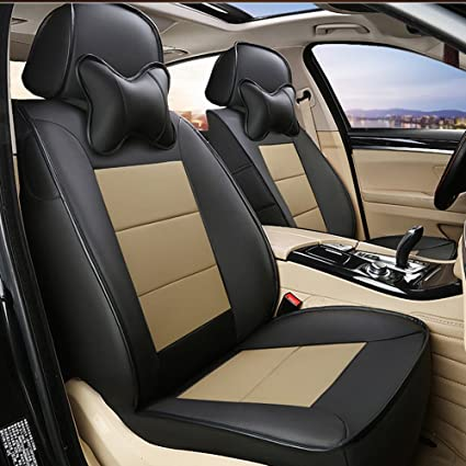 AutoDecorun 20pcs 3 Rows Genuine Leather Leatherette Seat Cover Compatible To Infiniti QX60 Covers