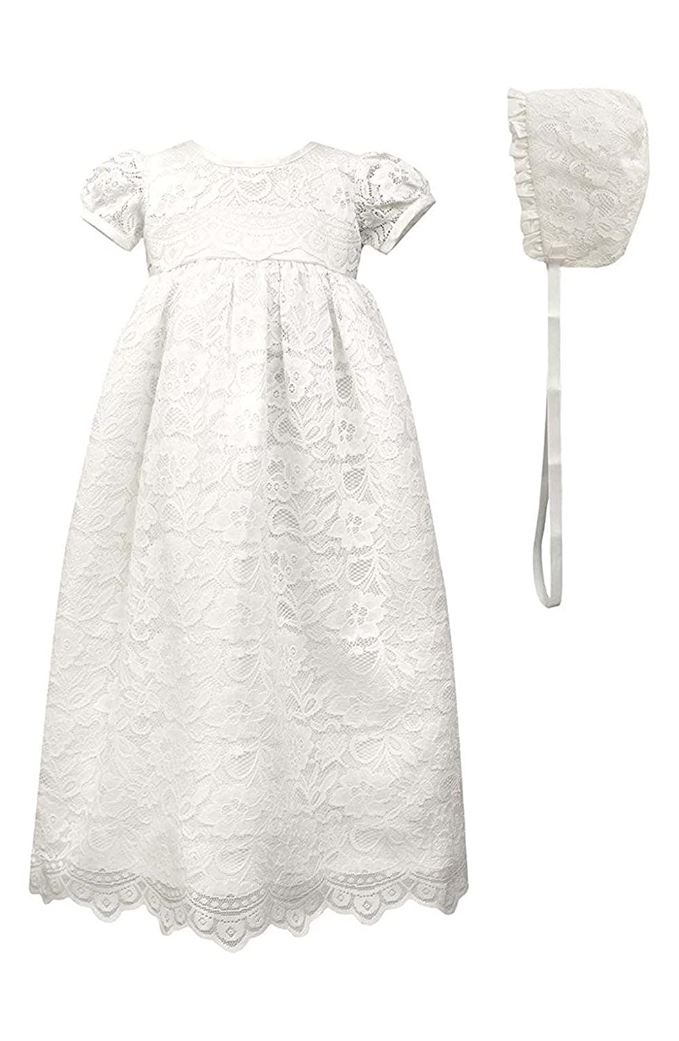 New Deve Newdeve Lace Christening Gowns For Baby Girls Baptism Dresses With Lace Bonnet