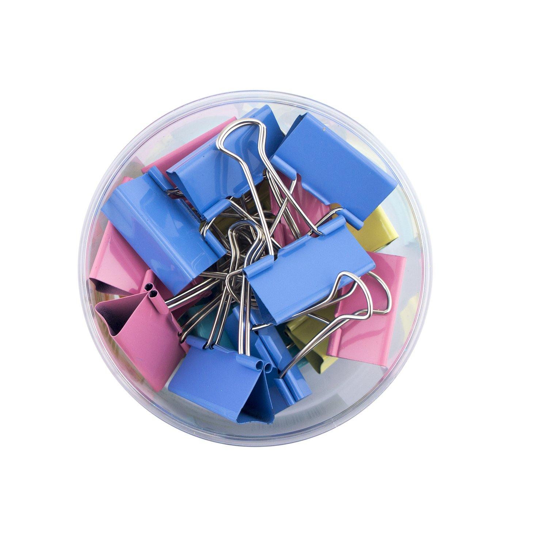 HAND CS-1615B Extra Small colorato Foldback Bulldog clip di carta per la casa, scuola e ufficio - 15 mm - Confezione da 60 Well Made Tools