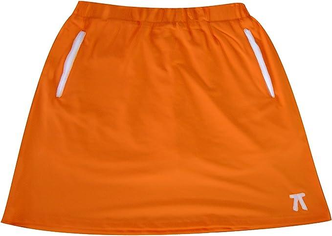 Sephlin Lady E Womens Dri-Fit Orange Zipper Skort