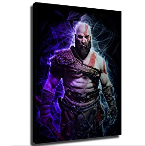 game poster God Of War Poster Picture Art Print Canvas Wall Art Home Living Room Bedroom Decorative Mural (24×32inch-Framed)