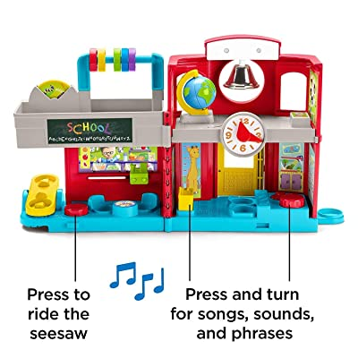 Fisher-Price Little People GJC08 Friendly School, Musical Play Set for Toddlers, Multicolour: Toys & Games