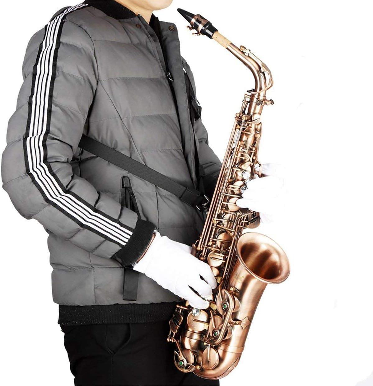 Arnés Ajustable Profesional Hombro Negro Saxo Saxofón Correa de ...