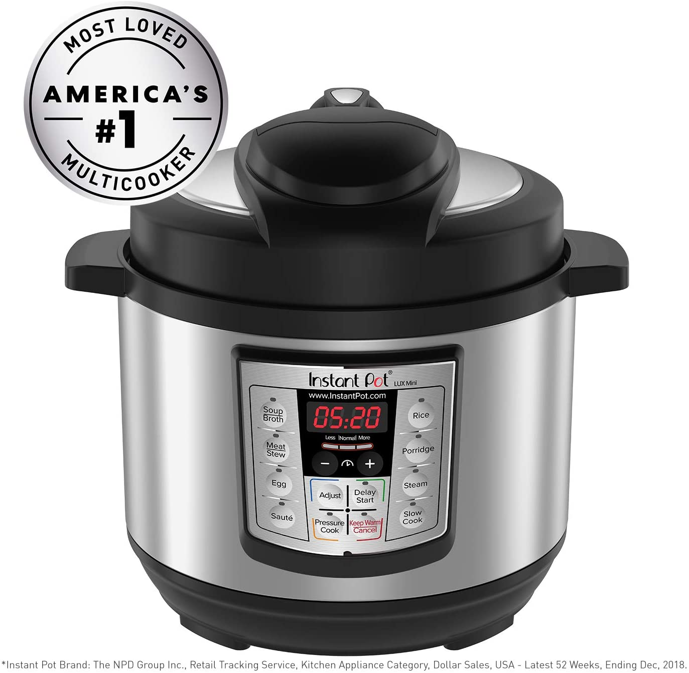 Instant Pot® Lux 6-in-1 Multi-Use Programmable Pressure Cooker 6 Quart Stainless
