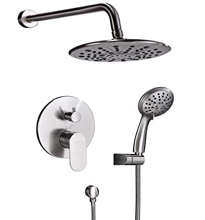 Shower Equipment Silver And Black Bathroom Fixture Waterfall Restroom Bath Shower Faucets Set Wall Mounted Bathtub Rain Shower Faucet Mixer Set Sale Overall Discount 50-70%