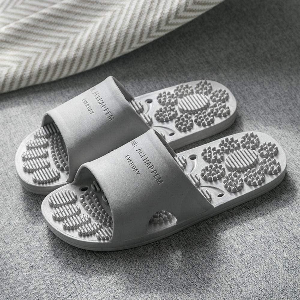 NEWELLYY Sandalias de Zapatillas de Masaje, Zapatillas de baño Antideslizantes para baño, Sandalias de Masaje Huecas-Grey_38-39, Sandalias de Ducha con Mulas Zapatos: Amazon.es: Deportes y aire libre