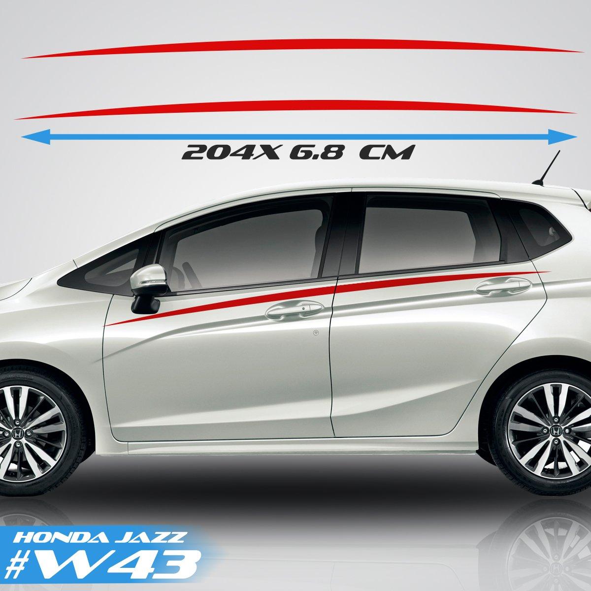 Honda Jazz Car Side Stripes Car Stickers Graphics Vinyl Decal