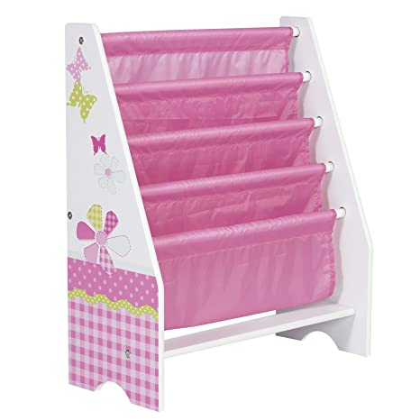 factory price d8d89 caca3 HelloHome Butterflies and Flowers Kids Sling Bookcase