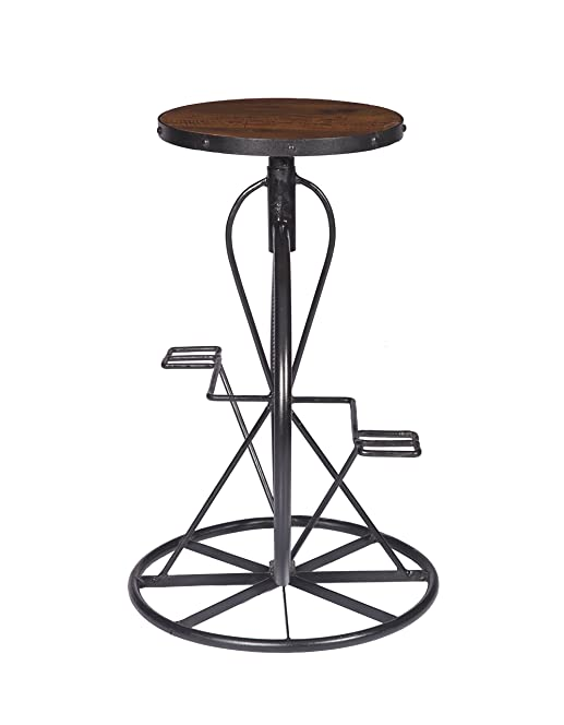 Stylla London Vintage Bicycle Design Industrial Metal Bar Stool with Solid Mango Wood Top and Adjustable  sc 1 st  Amazon UK & Stylla London Vintage Bicycle Design Industrial Metal Bar Stool ... islam-shia.org