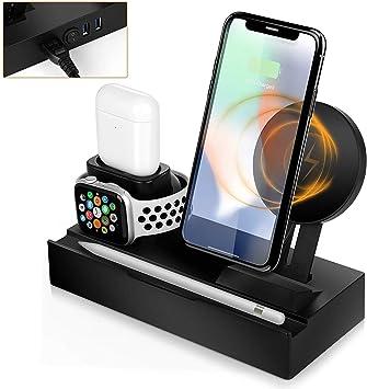 BECROWMEU Support de Chargeur sans Fil avec Fente pour Apple