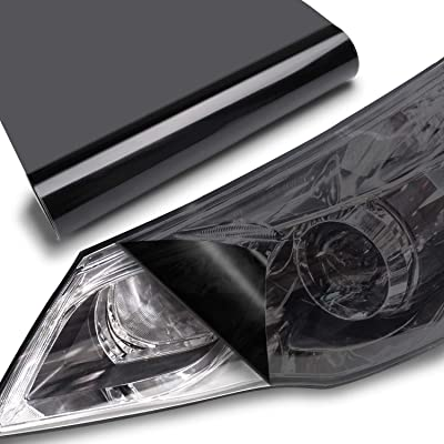 "TECKWRAP Headlight Taillight Vinyl Tint Wrap 11.5""x78"" Light Smoke Black: Automotive"