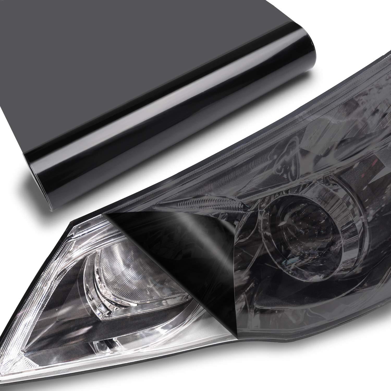 TECKWRAP Headlight Taillight Vinyl Tint Wrap 11.5x78 Dark Smoke Black