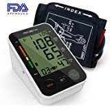 TEC.BEAN Automatic Upper-Arm Digital Blood Pressure Monitor with Heart Rate Detection and Storage for 2 Users, FDA-Certified