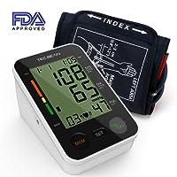 TEC.BEAN Automatisches Digitales Oberarm Blutdruck Messgerät mit Herzfrequenz-Erkennung und Speicher für 2 Nutzer, FDA-zugelassen