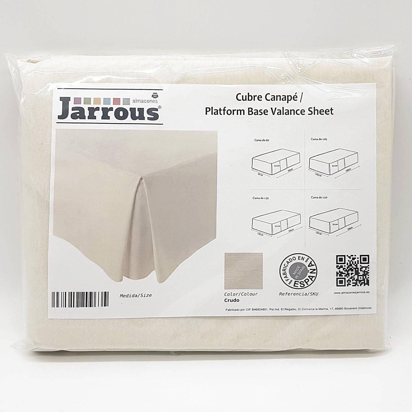 Jarrous Cubre Canapé Modelo Pierre, Color Crudo, Medida para Cama de 150