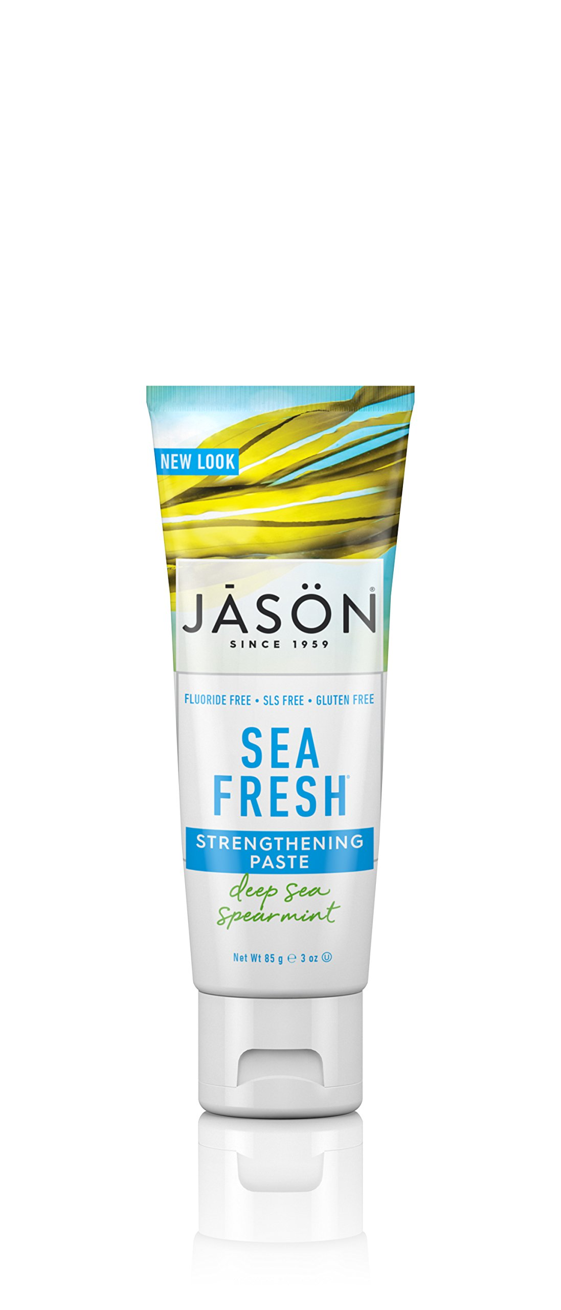 Jason Sea Fresh Travel Size Toothpaste, Deep Sea Spearmint, 3 Ounce, Packaging May Vary