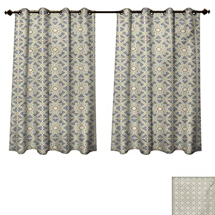 geometric blackout curtains patterned rupperttextile geometric blackout curtains panels for bedroom arabesque moroccan floral azulejos inspired squares with circles artwork amazoncom