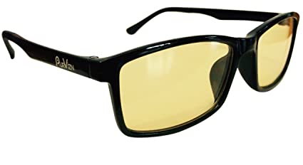 b072186410 Blue Light Blocking Glasses - Helps With Fluorescent Light and Migraines - Anti  Fatigue Reduces Eyestrain