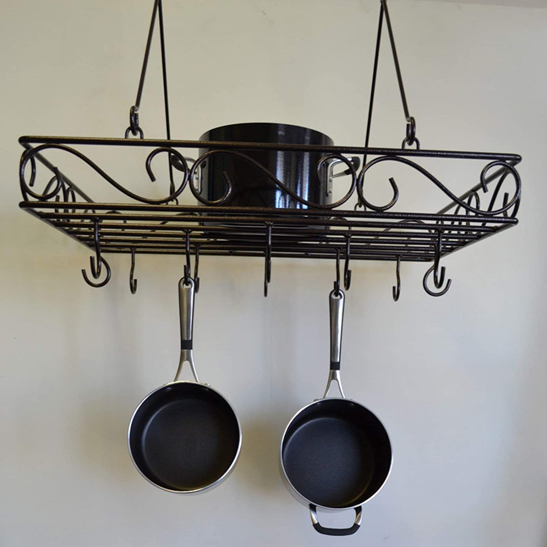 J& J Wire Pot and Pan Rack, Bronze BR878