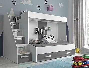 Etagenbett Kinder Grau : Furnistad etagenbett für kinder alfa doppelstockbett mit