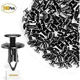 GOOACC 100PCS Nylon Bumper Fastener Rivet ClipsAuto Body Clips 8mm