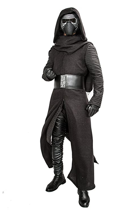 Mens Deluxe Kylo Ren Costume Full Suit New Version V3 with Belt & Gloves 2016 (S)