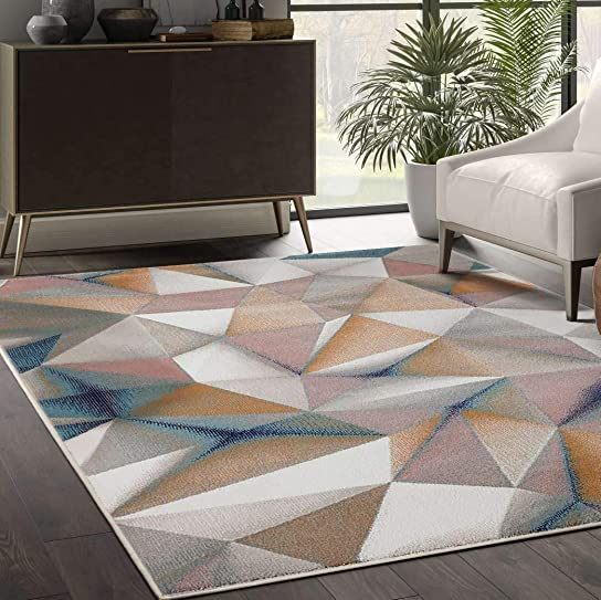 Abani Rugs Arto Collection Multicolor 3D Geometric 7'9'x10'2' Area Rug