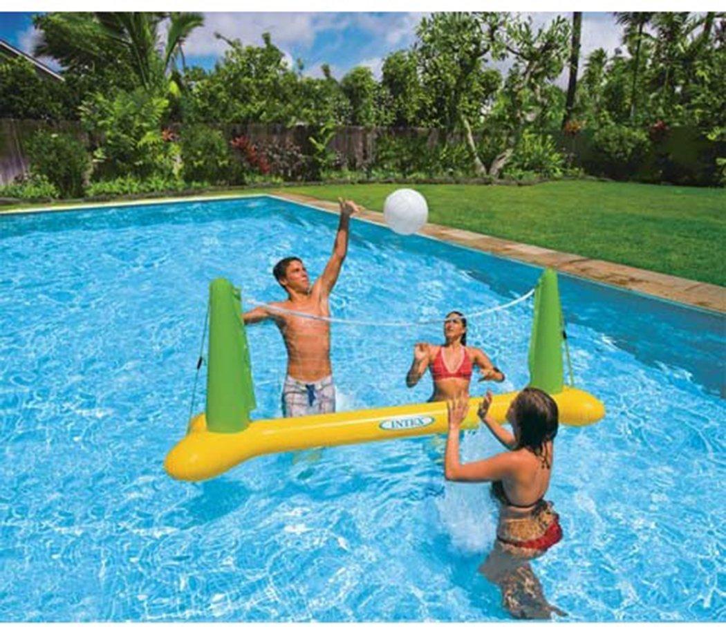 Intex Swimming Pool Volleyball Game Aqua Fun Inflatable Floating Goal & Ball