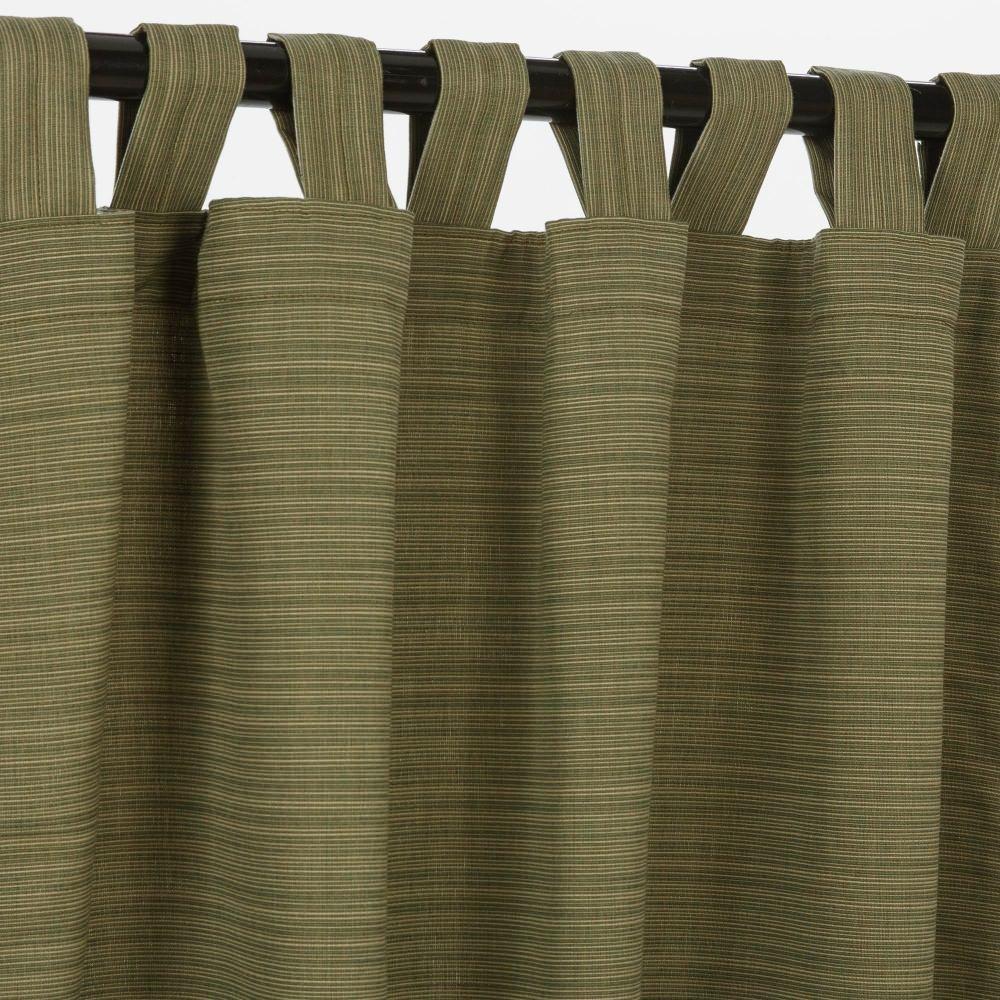 Sunbrella Outdoor Curtain with Tab Top - Dupione Laurel, 50x84