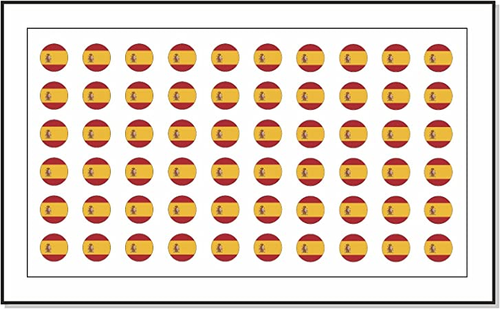 60 Bandera de España Transfer de Tatuaje Nail Art Stickers: Amazon.es: Hogar