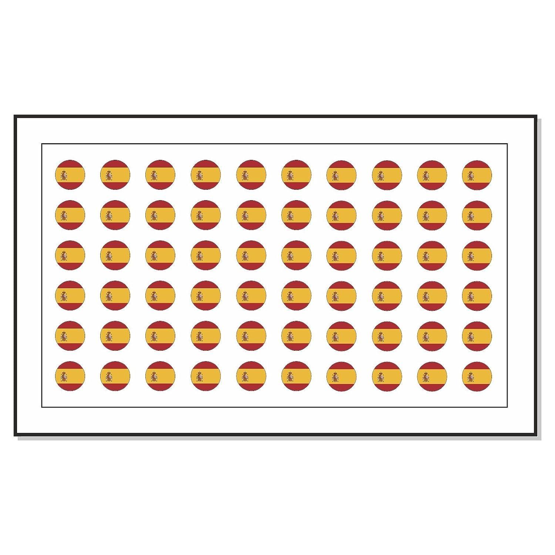 60 Bandera de España Transfer de Tatuaje Nail Art Stickers: Amazon ...