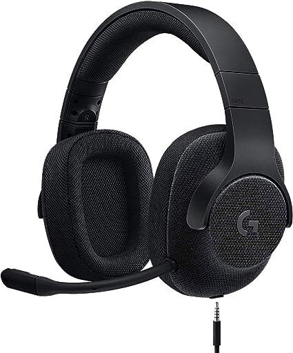Logicool G ゲーミングヘッドセット 有線 G433BK 高音質 7.1ch Dolby 3.5mm usb 軽量 ノイズキャンセリング 単一性 着脱式マイク PS5 PS4 PC Switch Xbox スマホ 国内正規品