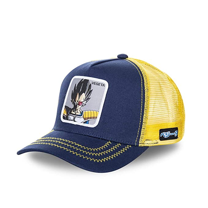 Collabs Gorra Dragon Ball Z Vegeta Trucker Azul OSFA (Talla única para Todos sexos)