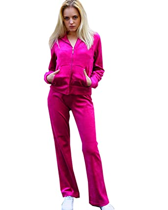 0939bbd859cb LADIES VELOUR TRACKSUITS VELOUR HOODIE AND JOGGING PANTS UK SIZE 8-20 CY  Boutique EXCEPTIONAL BRAND 80% Cotton, 20% Polyester: Amazon.co.uk: Clothing